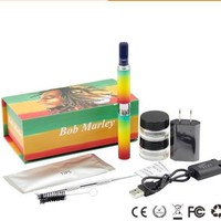 Herbal Vaporizer BobMarley Dry Herb Vaporizer Kit Electronic Cigarette 650mAh Ego Evod Battery Herbal Wax Atomizer Vape Pen Kit