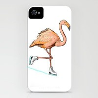 Flamingo on ice iPhone Case by Lucas Scialabba :: Palitosci    Society6