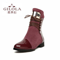 new women genuine leather boots fashion female women's ankle heels women boots woman autumn shoes winter #Y1073316H