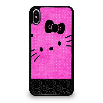 HELLO KITTY PINK BLACK iPhone XS Max Case