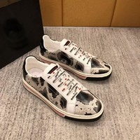 D&G DOLCE & GABBANA Men's Leather Fashion Low Top Sneakers Shoes-KUYOU