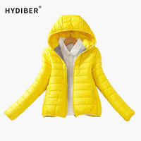 Solid Color Zipper Hooded Women Spring Jacket 2017 New Fashion Autumn Winter Slim Warm Ladies Coats Plus Size Outerwear