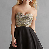 Short Sweetheart Homecoming Dress by Night Moves