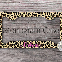 Car tag frame - Stylish Leopard Pattern, custom license plate frame