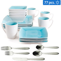 Walmart: Gibson Studio Pleasanton Dinnerware Set and Oneida Mooncrest Flatware Bundle, Service for 8
