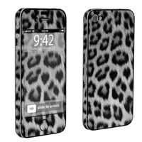 Apple iPhone 4 or 4s Full Body Decal Vinyl Skin - Black Cheetah By SkinGuardz:Amazon:Cell Phones & Accessories