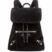 Classic Traveller suede backpack
