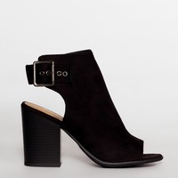 Salem Peep Toe Booties - Black