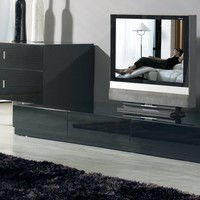 Contemporary Black 3-Piece Entertainment Center