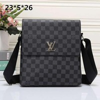 Perfect Louis Vuitton LV Women Men Shopping Bag Leather Satchel Shoulder Bag Crossbody