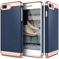 The Navy and Gold Dual Layer Slider / Soft Interior Cover iPhone 7 Plus Case