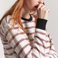 Stripe Fleece Pullover