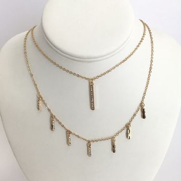 Simple & Sleek Layered Necklace in Gold
