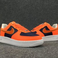 Women's and Men's NIKE AIR FORCE 1 MID 07 cheap nike shoes orange 036