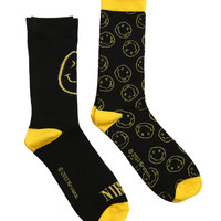 Nirvana Logo Men's Crew Socks 2 Pack