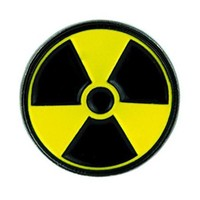 Black & Yellow Bio-Hazard Lapel Pin Cyber Goth Zombies