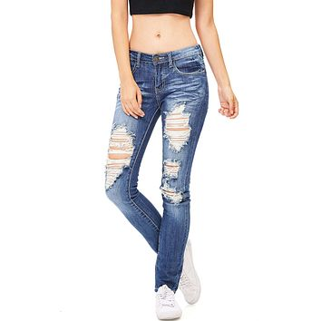 Dive Distress Skinny Jeans