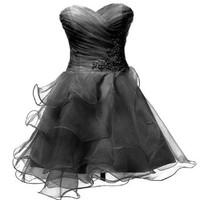 Dresstells Sweetheart Organza Short Prom Girls Party Sweet 16 Cocktail Dress