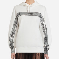 Women's T-shirts and Sweatshirts | Dolce&Gabbana - JERSEY SWEATSHIRT WITH HOOD