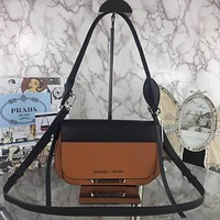 prada women leather shoulder bag shopping satchel prada tote bag handbag 18