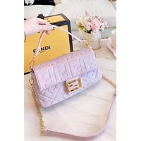 Fendi New fashion more letter velvet chain shoulder bag women
