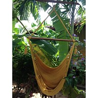 Mission Hammocks Hanging Hammock Chair Natural Cotton - Yellow