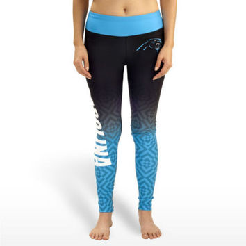Carolina Panthers Womens Gradient Official NFL Print Leggings