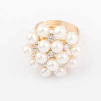 Jewelry Shiny Gift New Arrival Korean Stylish Accessory Pearls Ring [4918798212]