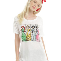 Disney Renaissance Princesses Panel Girls T-Shirt