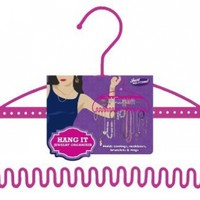 Just Solutions HangIt Jewelry Organizer - Pink 3% of sales go to Breast Cancer Foundation