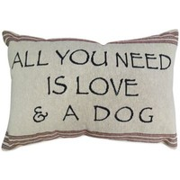 """The Vintage House by Park B. Smith® """"Need Love & Dog"""" Tapestry Oblong Throw Pillow"""