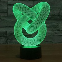 Creative 3D illusion Lamp LED Night Light 3D Abstract Graphics Acrylic lamparas Atmosphere Lamp Novelty Lighting home decorate