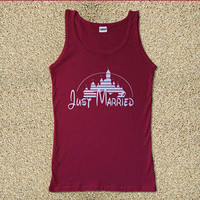Just Married for Tank Top Mens and Tank Top Girls