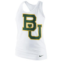 Nike Baylor Bears Ladies Logo Tri-Blend Racerback Tank Top - White