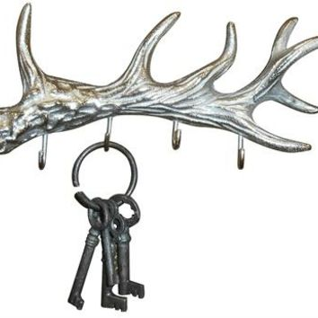 Silver Antler 4-Ring Key Hook