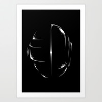 Daft Punk Art Print by Pyier Trpn