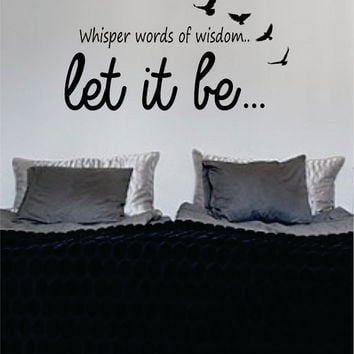 Let It Be Version 6 The Beatles Quote Design Sports Decal Sticker Wall Vinyl