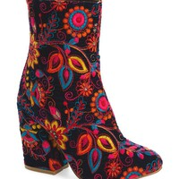 Power Girl Embroidered Bootie