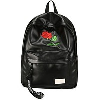 Leather Rose Backpack