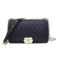 Classic Silicon Quilted Crossbody Bag Luxury Shoulder Handbags Purses For Womens Girls-1