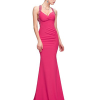 Grace Karin Sexy Mermaid Evening Dresses 2016 Backless Sequins Bodycon Cross Back Black Blue Green Red Formal Long Evening Dress