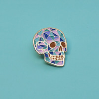"""Crystal Skull"" Pin"