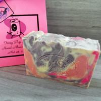 SALE Fizzy Pop Star Soap Handmade All Natural Homemade Hand Made Olive Oil Pink Purple Teen Gift Soda Coconut Oil Free