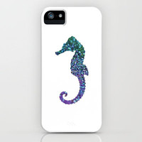 SEAhorse Sparkling  iPhone Case by M✿nika  Strigel for iphone 5 + 4 S + 4 + 3 GS + 3 G + skins + pillow + print + tshirts + more | Society6