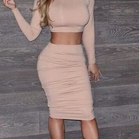 CUTE FASHION TWO PIECE IRREGULAR DRESS