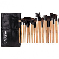 New Fashion Professional 24pcs Soft Cosmetic Tool Makeup Brush Set Kit With Pouch