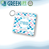 Gamma Phi Beta Natural Wood Key Chain