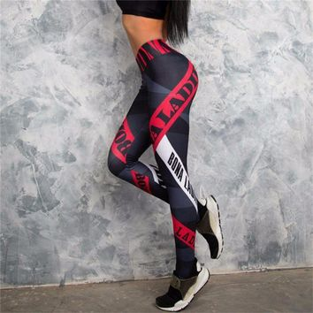 Elastic Waist Stretched Sports Pants