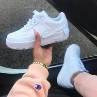 Nike Air Force 1 Jester AF1 Whole white skewed men's and women's shoes