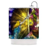 Kess InHouse Mandie Manzano Fairy Tale Off to Neverland Shower Curtain, 69 by 70-Inch